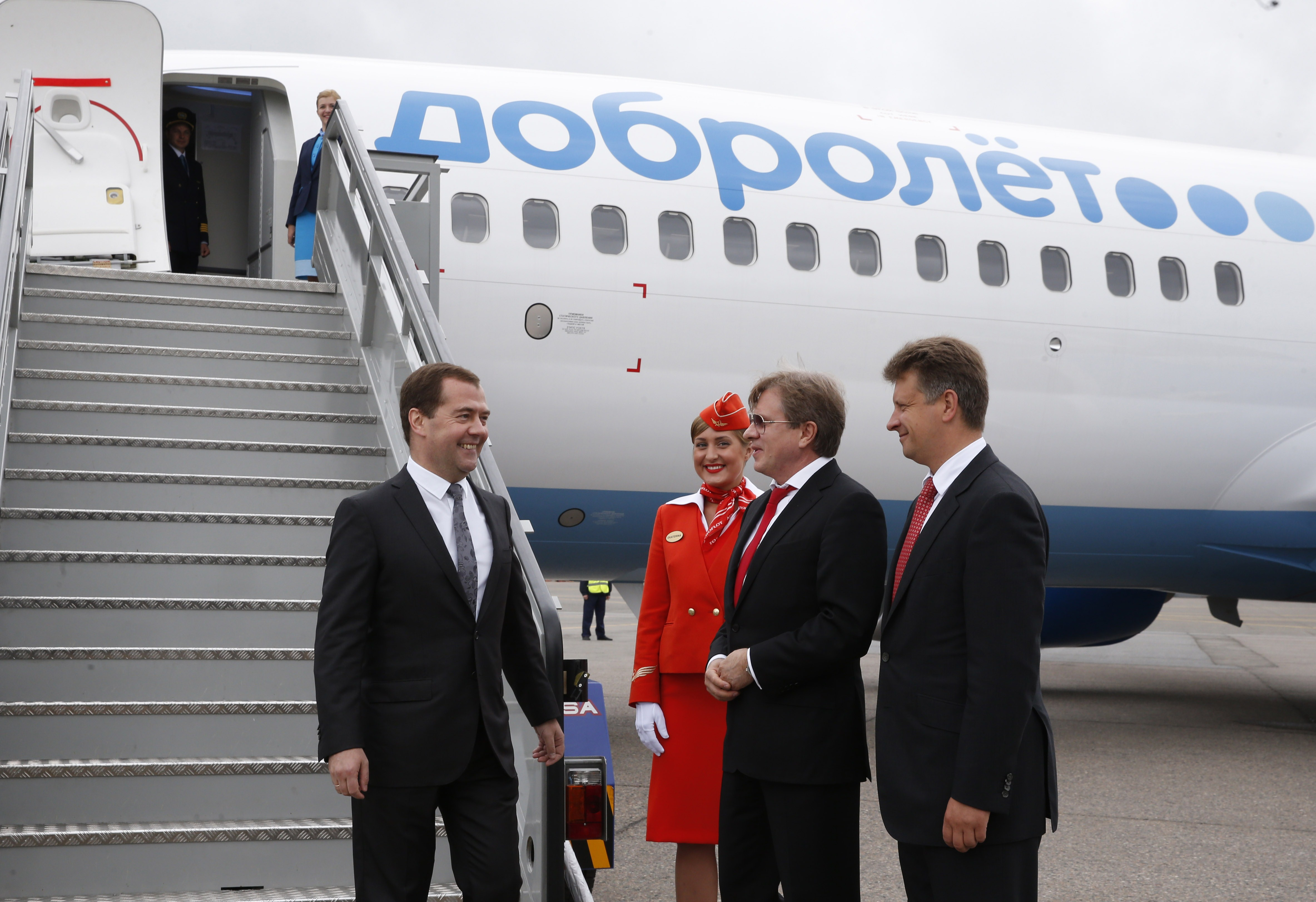 RUSSIA-UKRAINE-CRIMEA-POLITICS-TRANSPORT-AVIATION-CRISIS-MEDVEDE