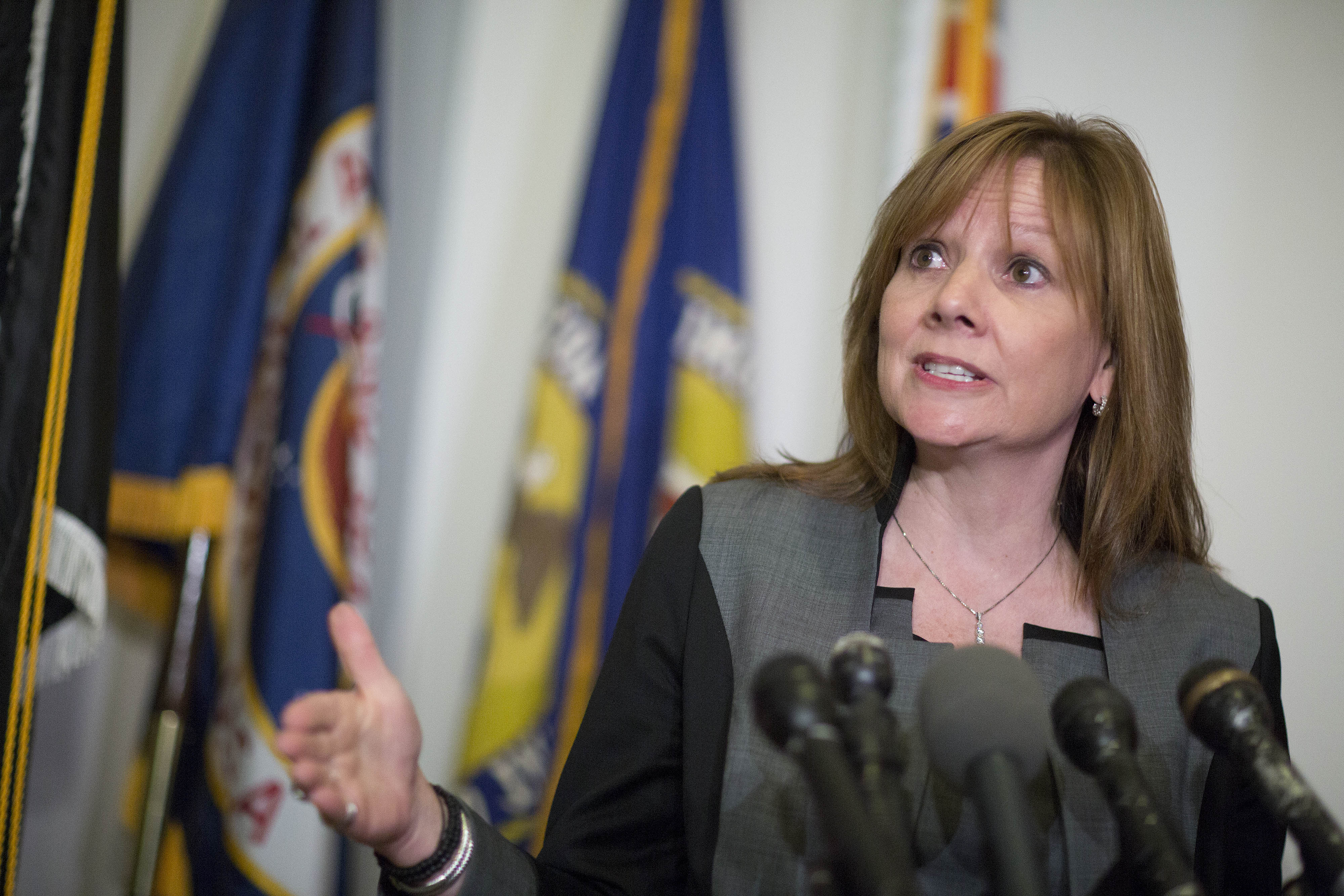 General Motors Co. Chief Executive Officer Mary Barra At Senate Hearing On Recalls