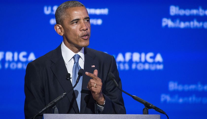 President Obama speaks during the US-Africa Business Forum in Washington, D.C.