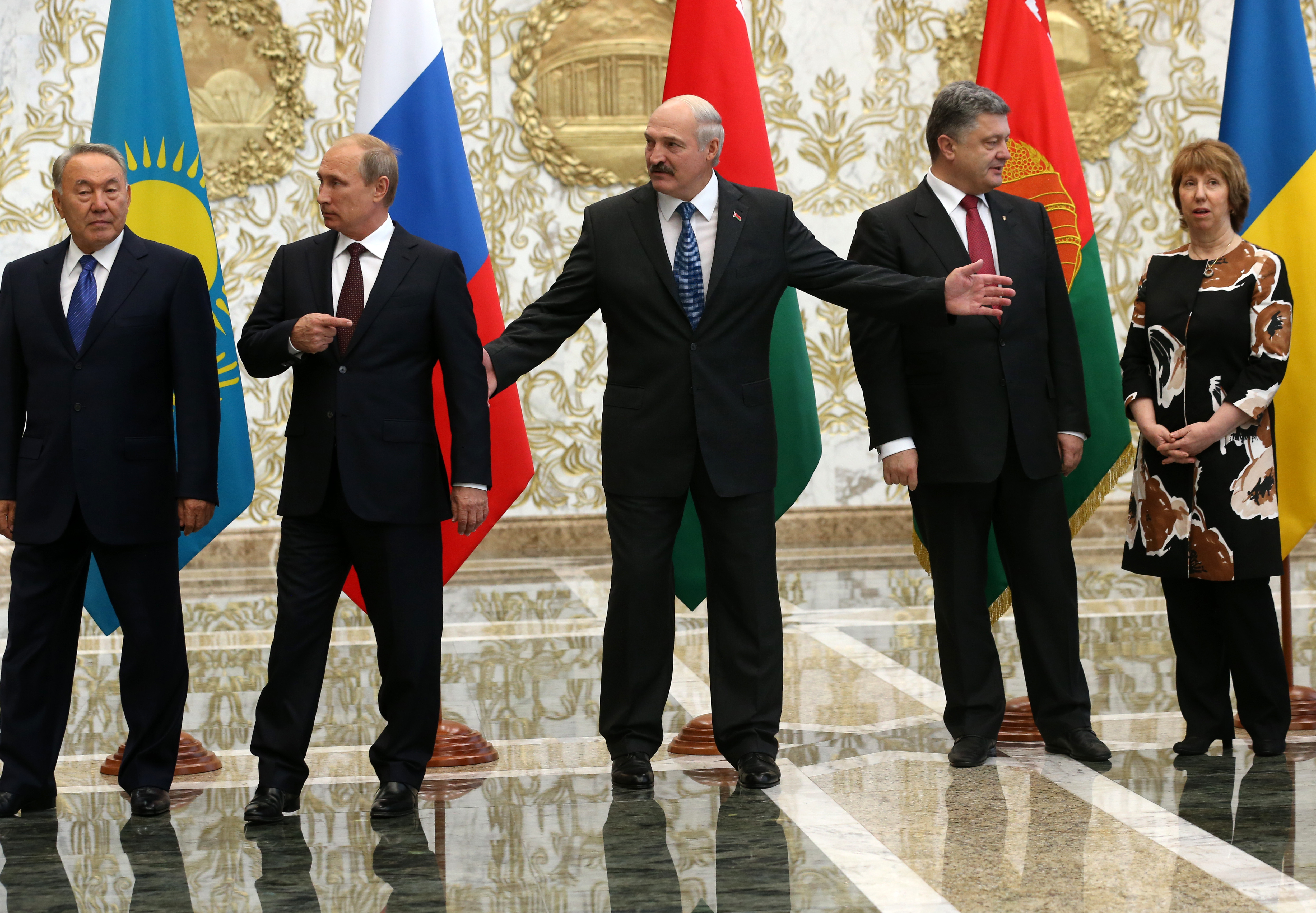 Vladimir Putin Attends EU Summit In Minsk With Ukrainian President