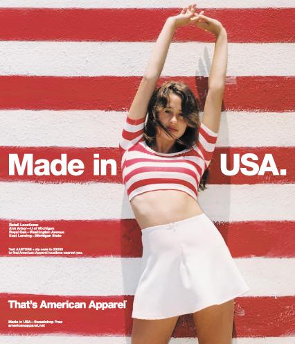 American Apparel ad medium