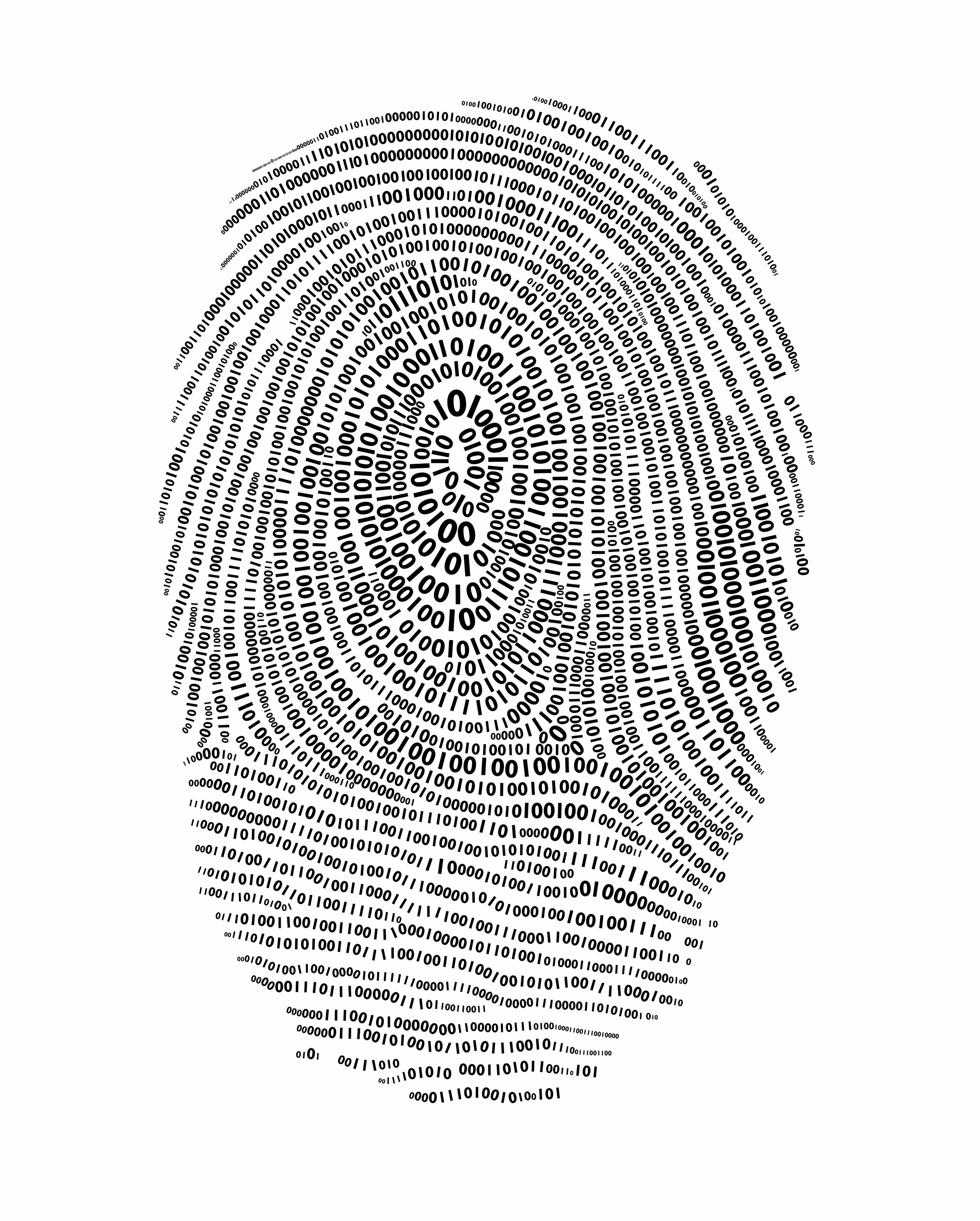 Binary codes forming fingerprint (digital)