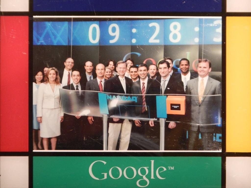 Google IPO Nasdaq crew 2004 David Krane