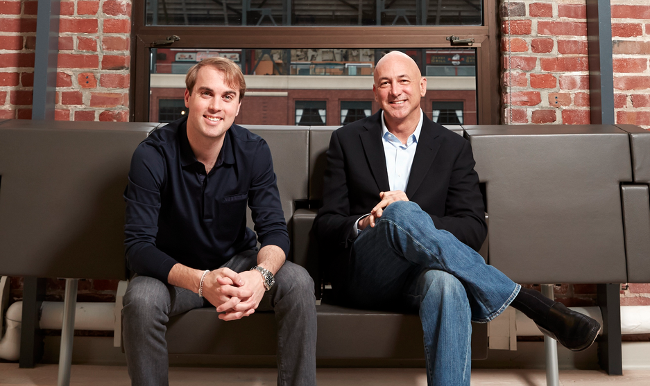 Lookout cofounder and executive chairman John Hering (left) with CEO Jim Dolce.
