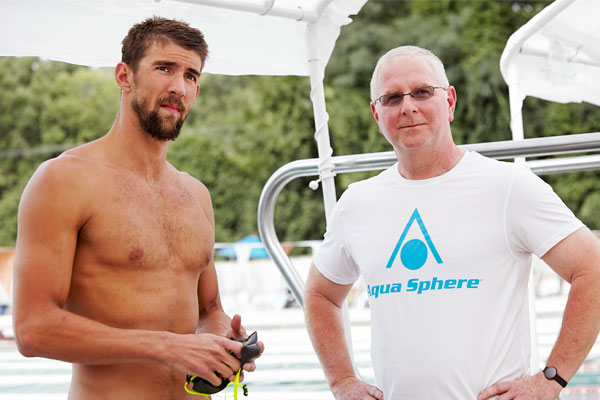Olympic swimmer Michael Phelps and his coach, Bob Bowman.