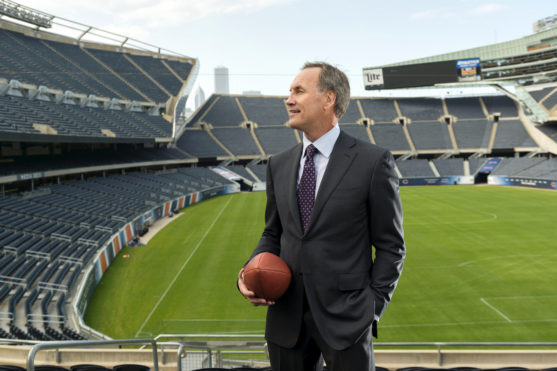 The interception king at Chicago's Soldier Field in July