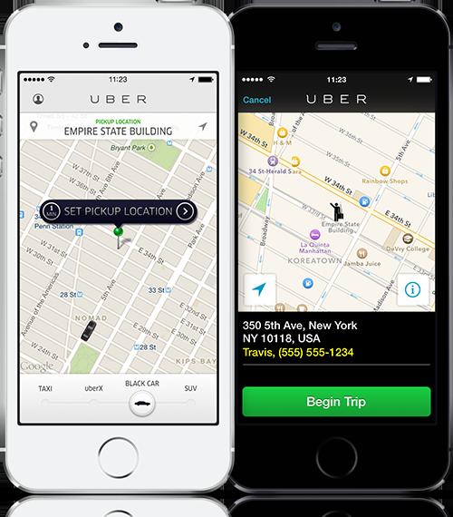 Uber iPhone duo 2014