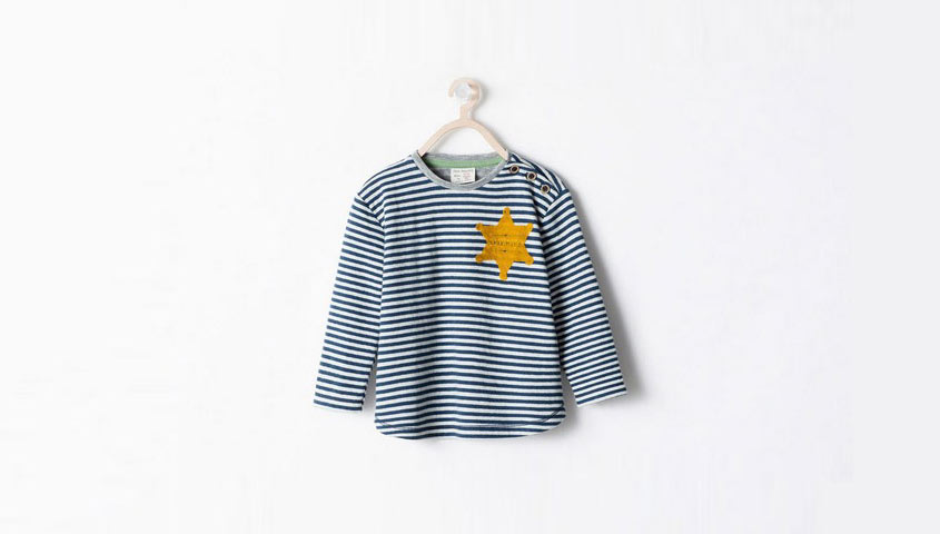 "The striped ""sheriff"" shirt that Zara pulled from stores on Wednesday."