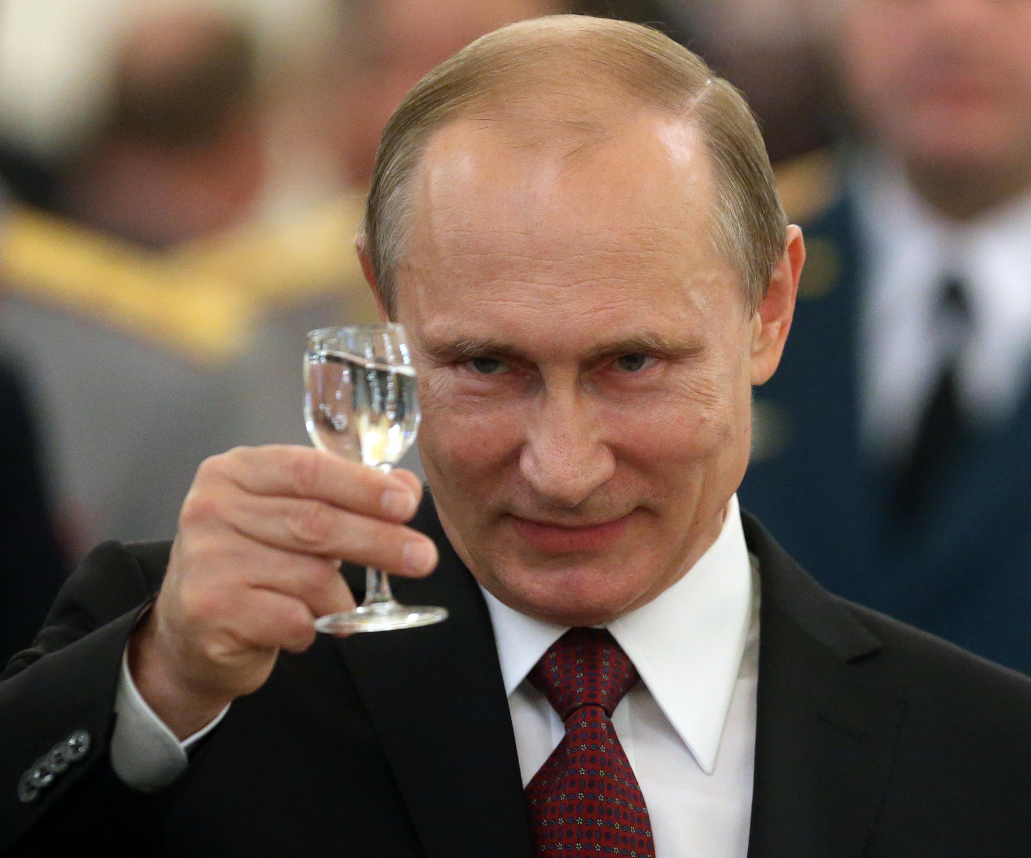 Russian President Vladimir Putin Attends Reception For Military Academy Graduates