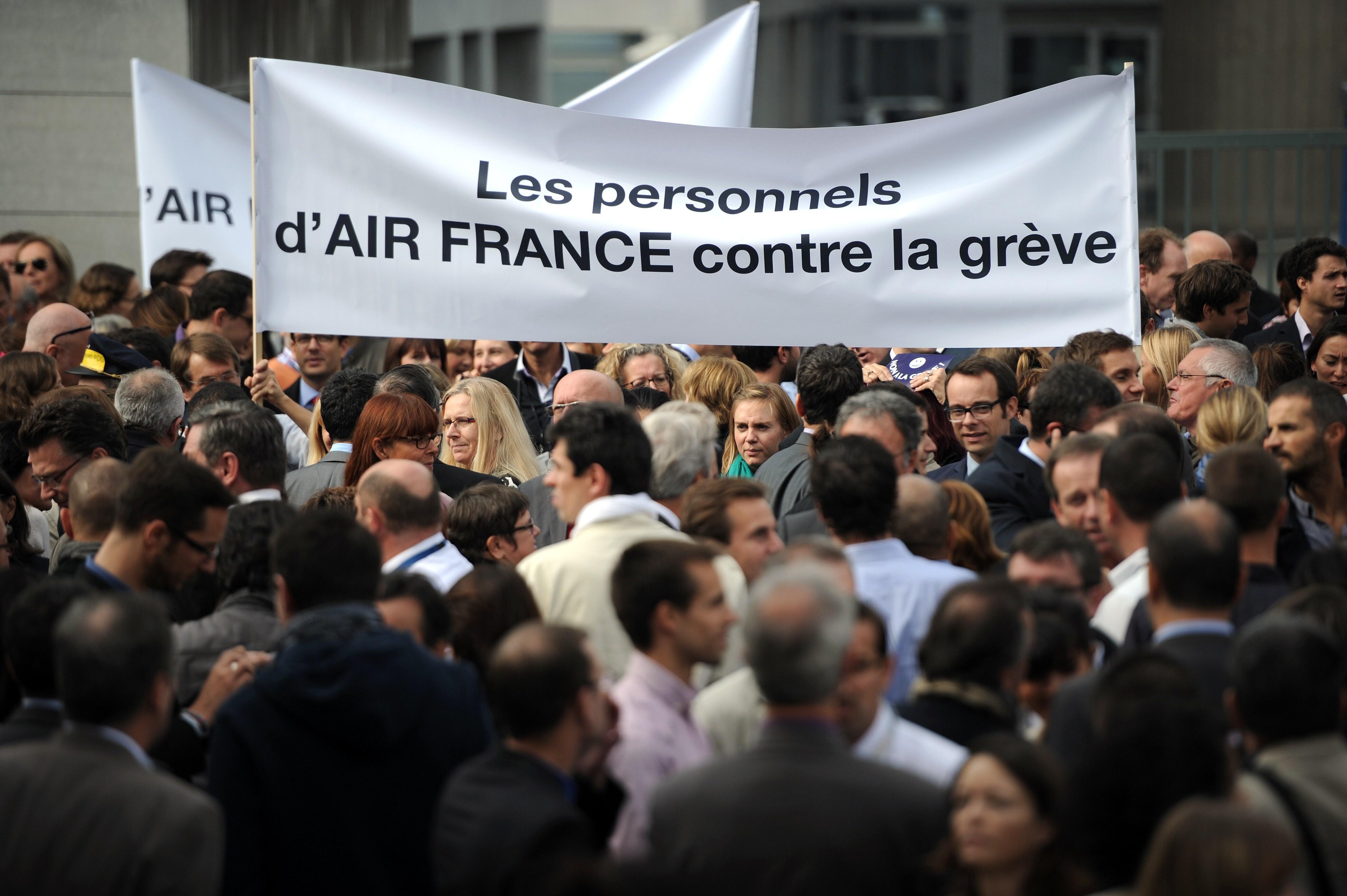 FRANCE-AVIATION-TRANSPORT-STRIKE-AIRFRANCE