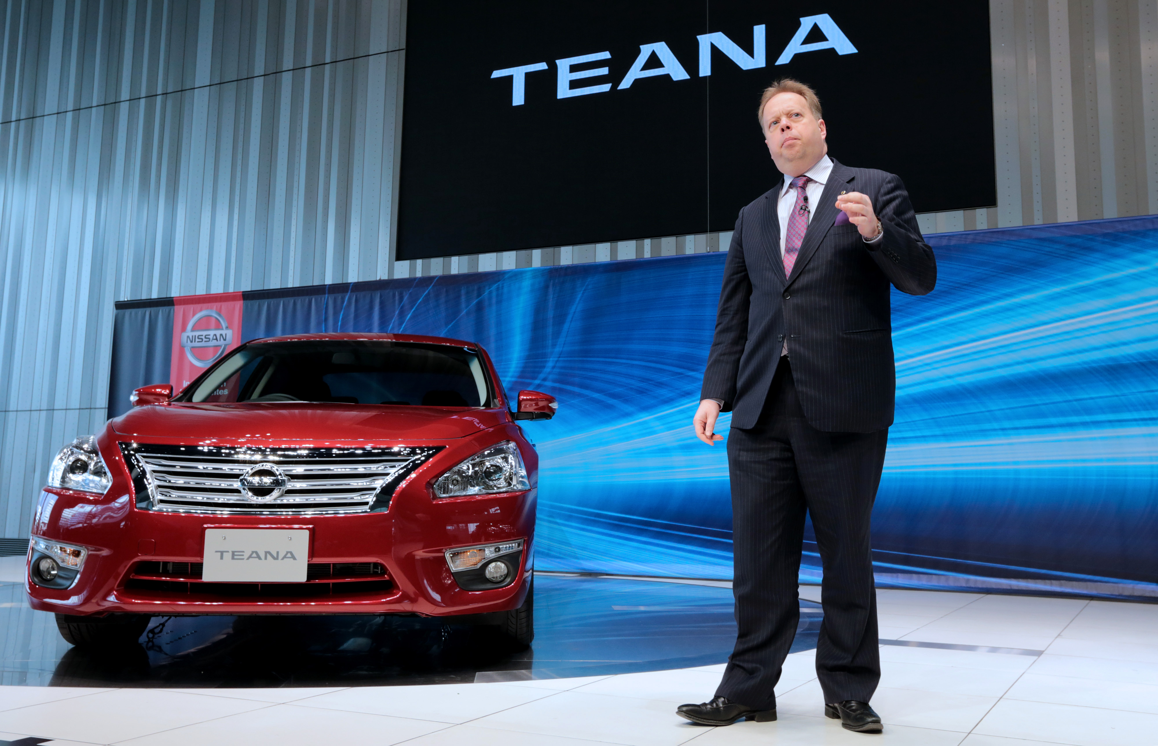 Nissan Vice President Andy Palmer Attends Redesigned Teana Launch
