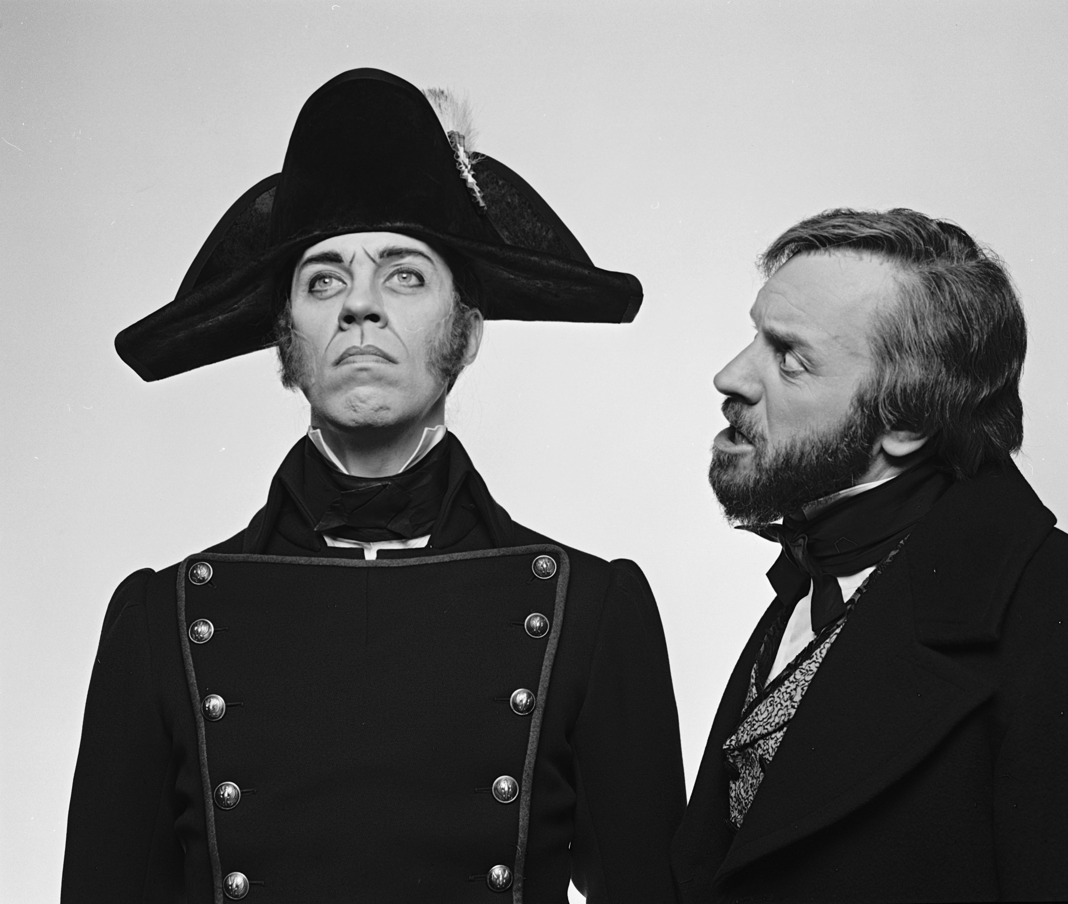 """Colm Wilkinson and Terrence Mann in """"Les Miserables"""""""