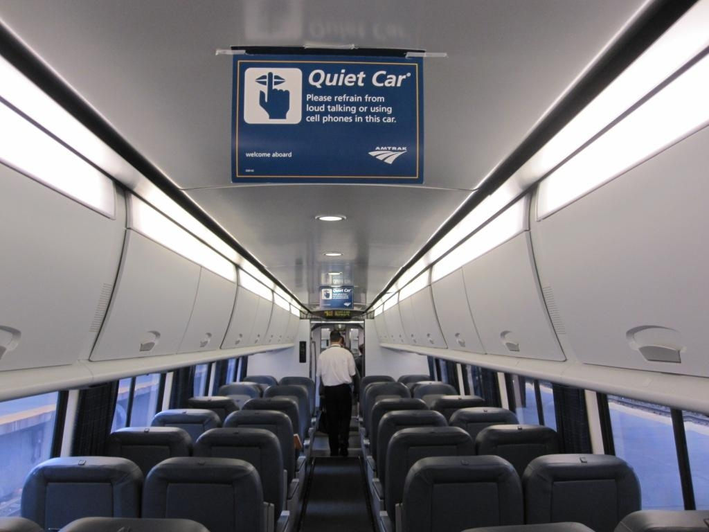 The Quiet Car on the Amtrak Acela train