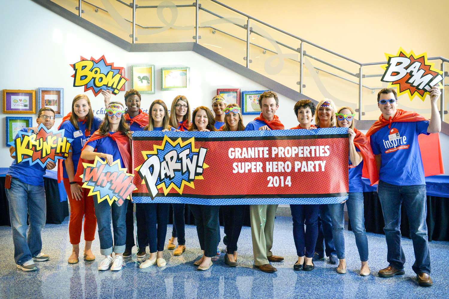 Graniteers host a party for patients at a children's hospital