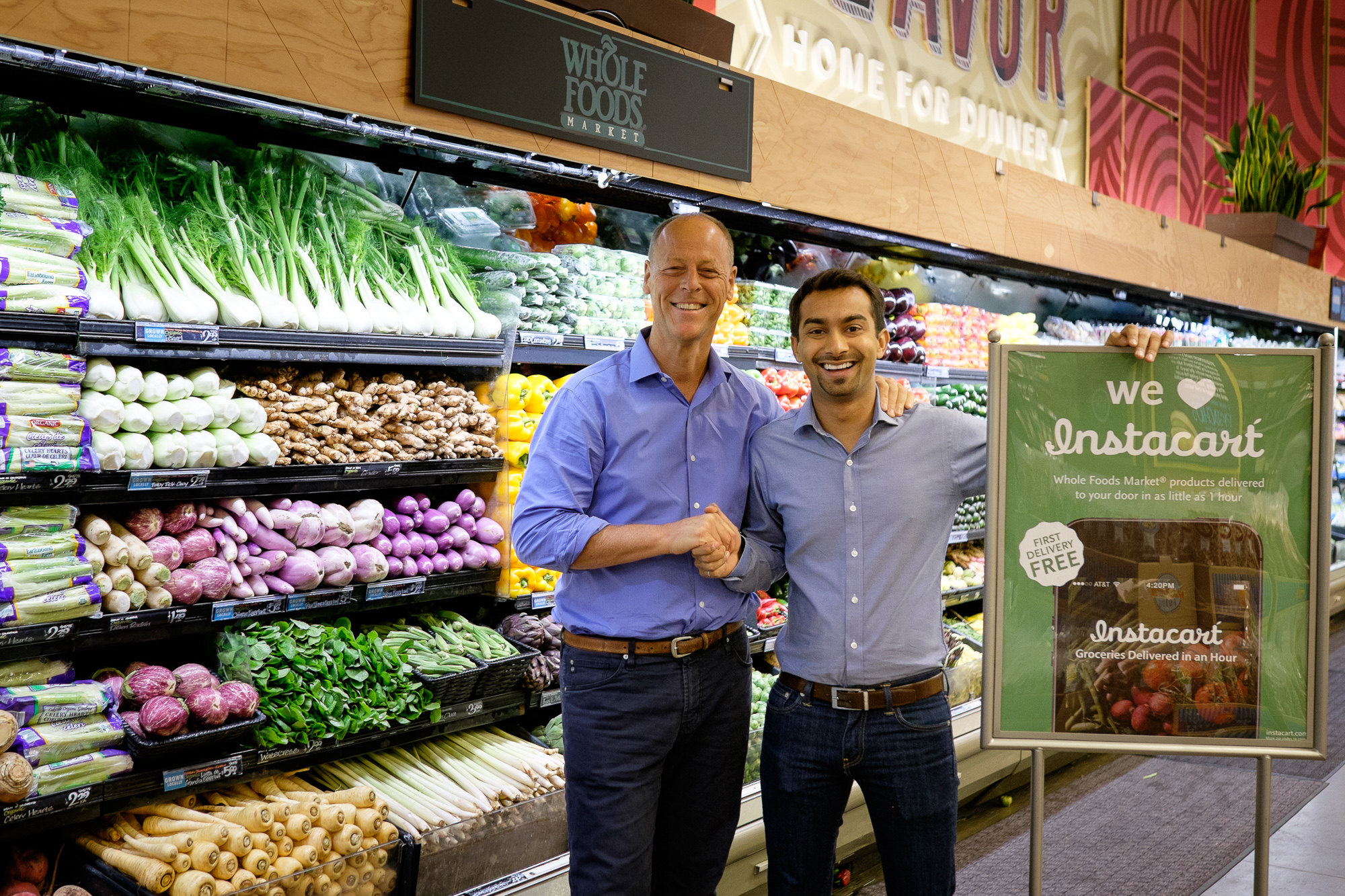 Whole Foods and Instacart turn up the heat in the delivery