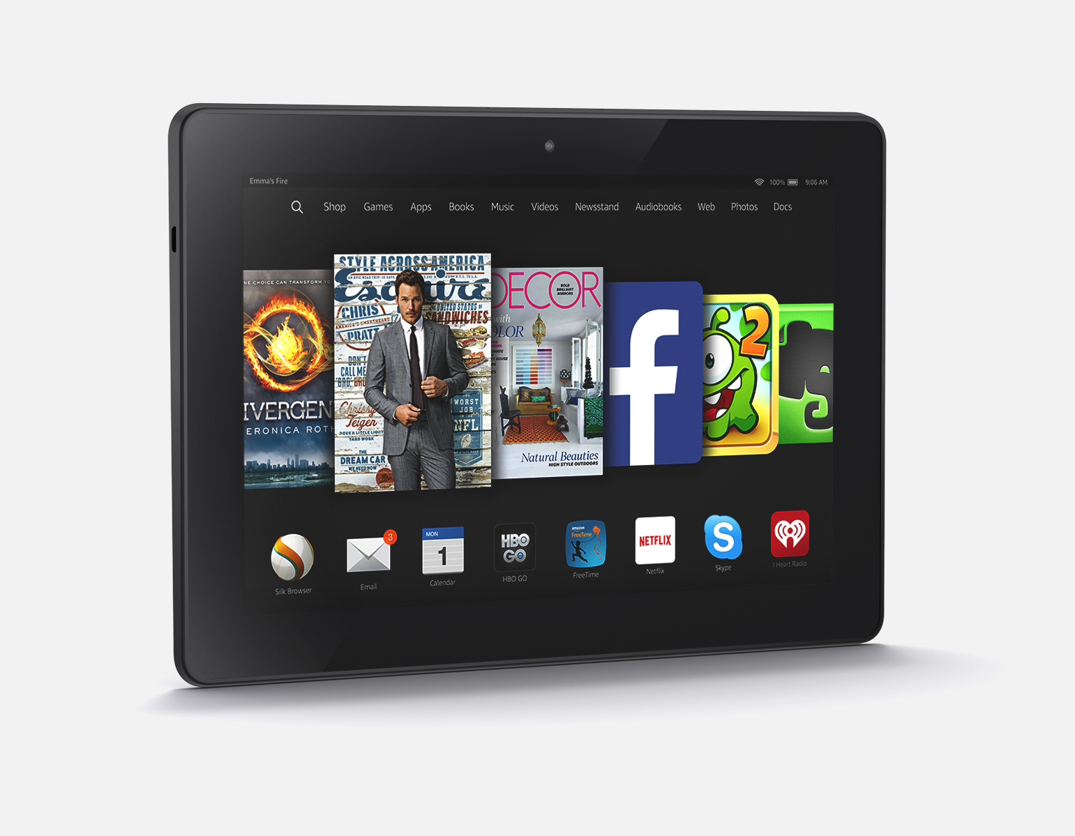 Amazon's Fire HDX 8.9 tablet computer.