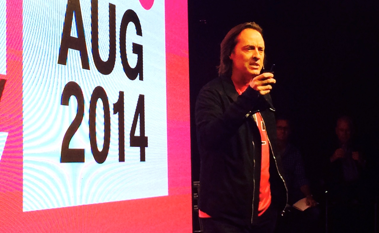T-Mobile CEO John Legere at Uncarrier 7.0 in San Francisco.