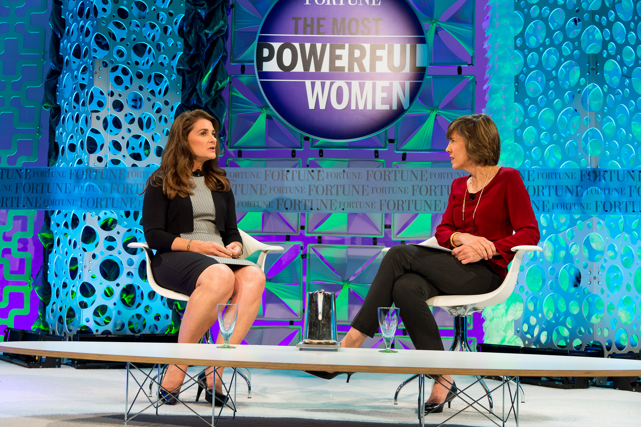 Melinda Gates and Pattie Sellers