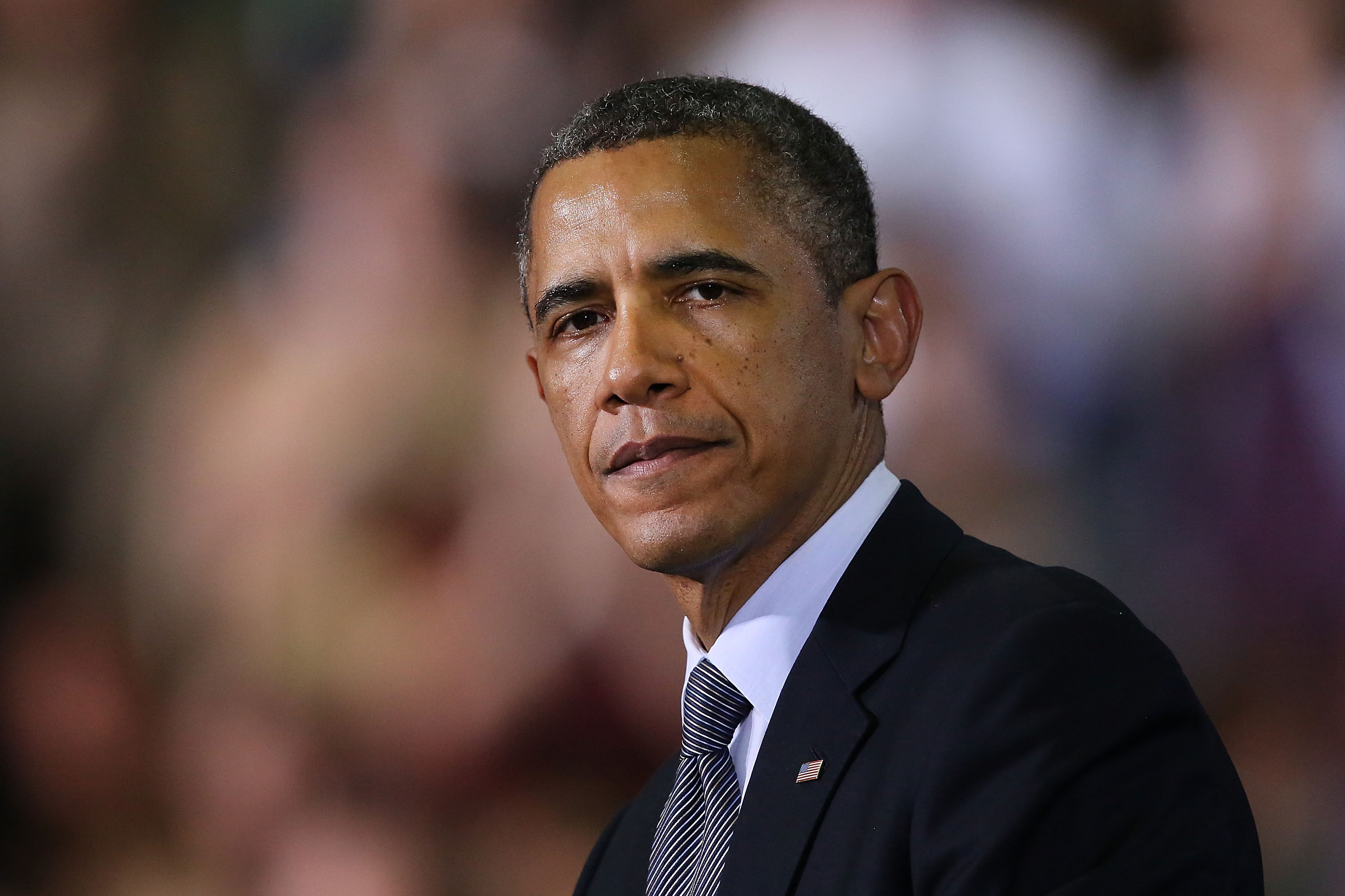 Obama Travels To Connecticut To Advocate Passing Of Stricter Gun Laws
