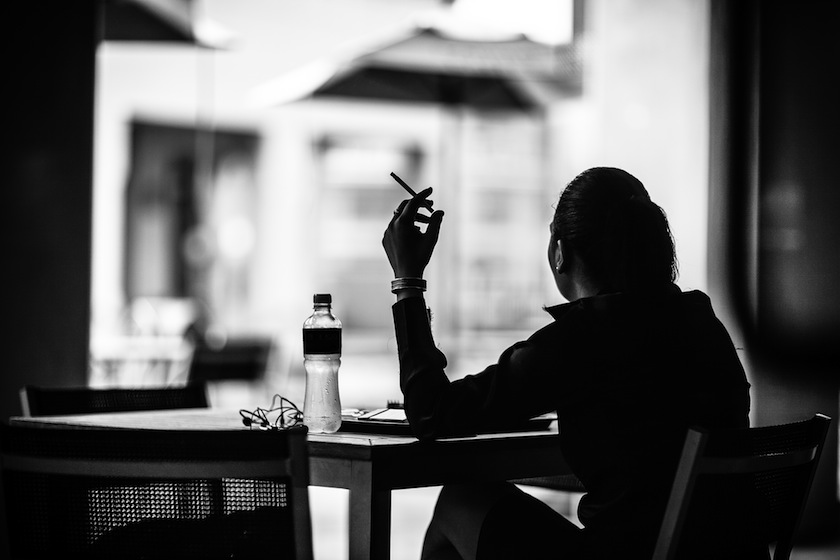 smoking woman cigarette