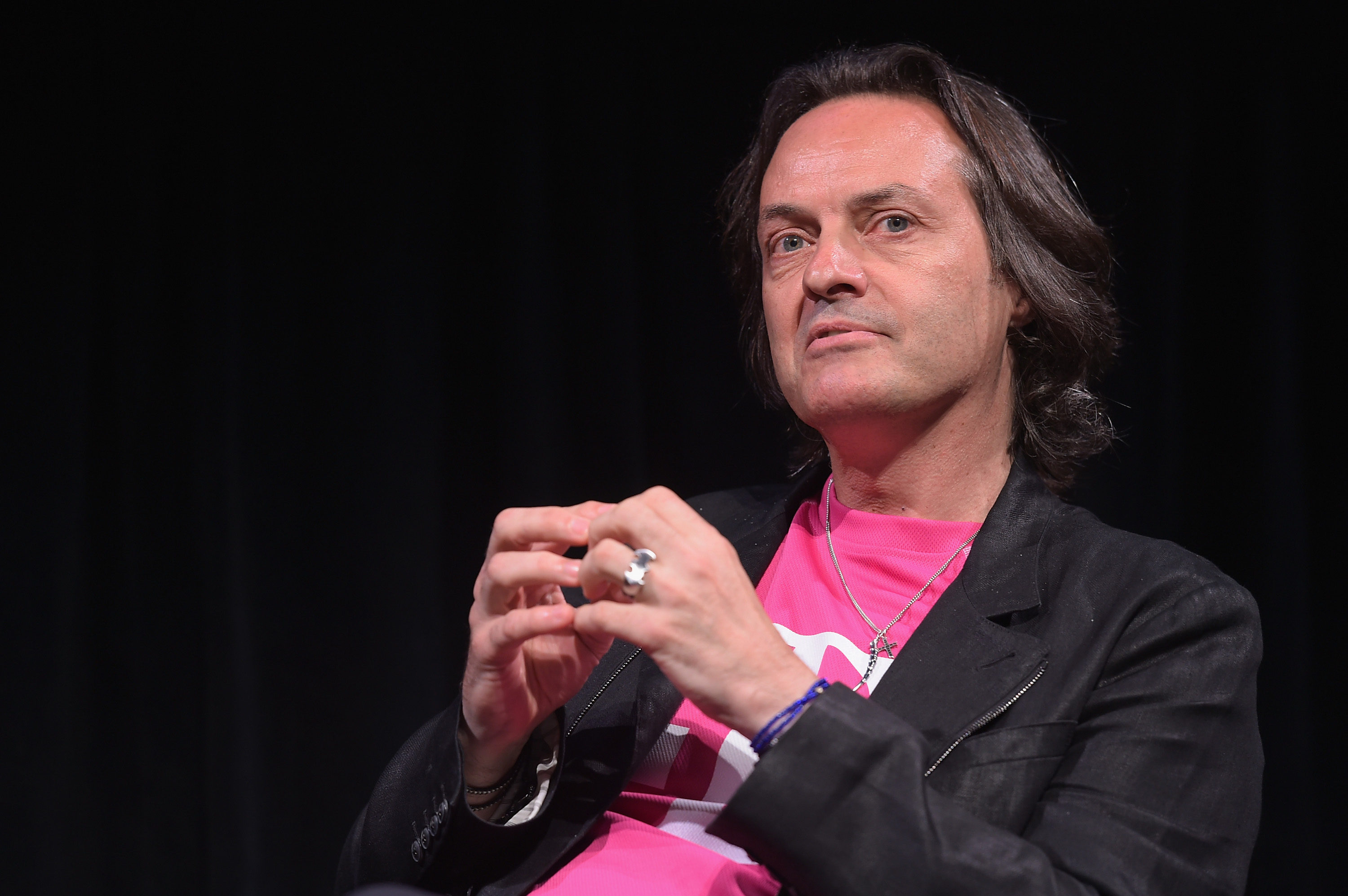 T-Mobile CEO/Executive Producer John Legere takes part in a Q&A on July 15, 2014 in New York City.
