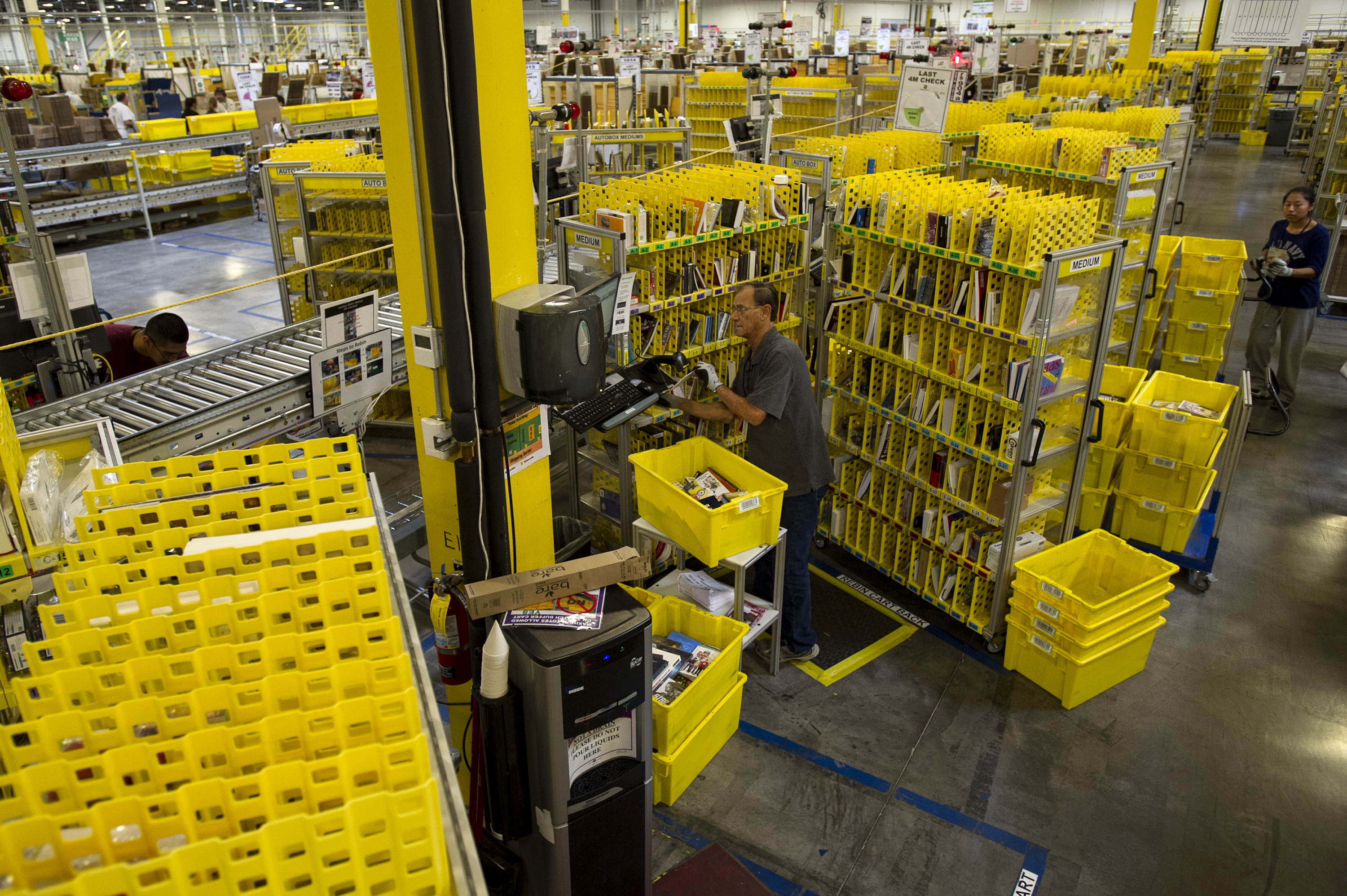 Operations Inside the Amazon.com Fulfillment Center On Cyber Monday
