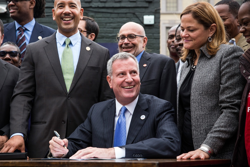 Mayor De Blasio Announces Executive Order Raising Living Wage