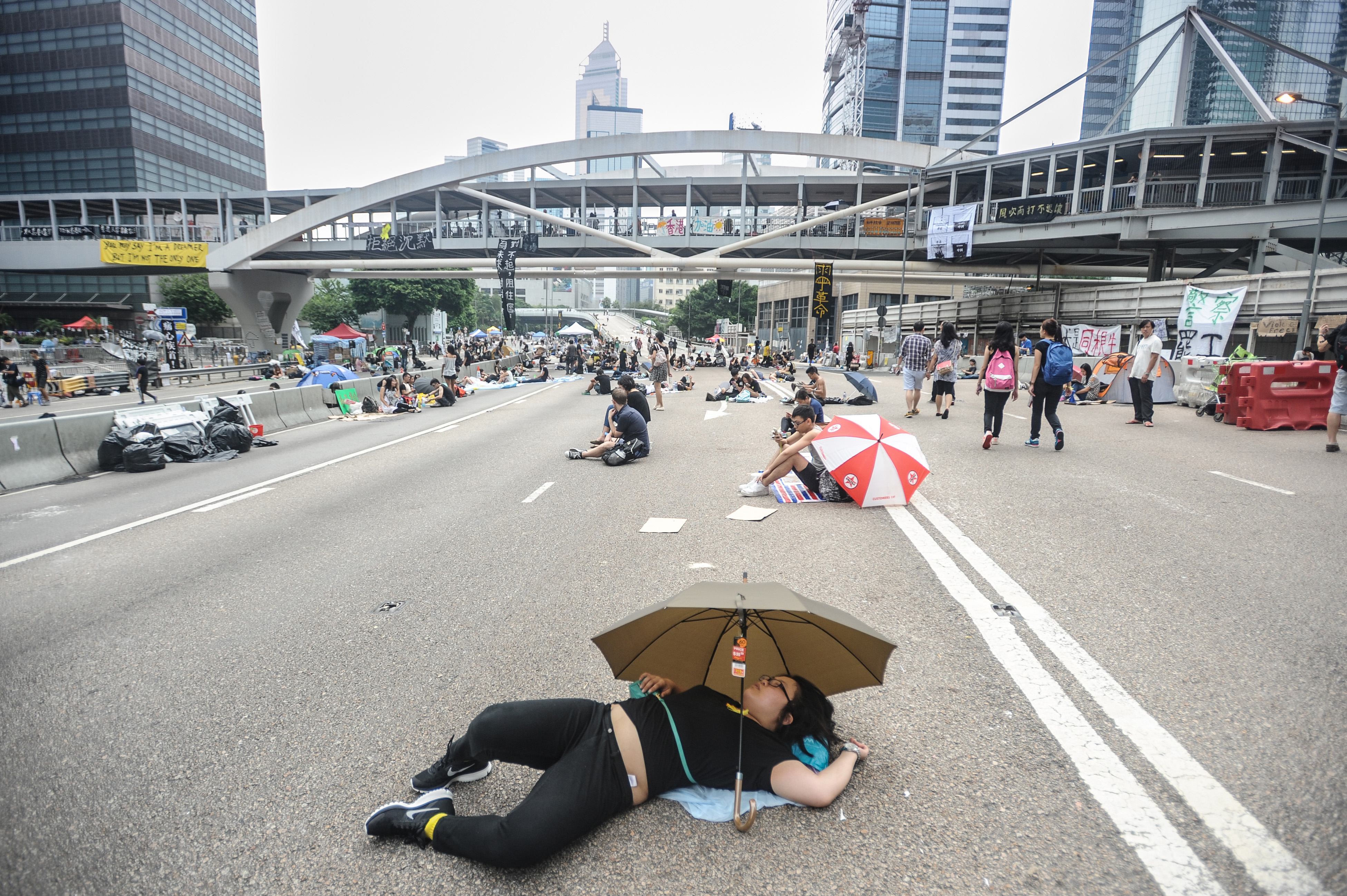 Pro-democracy demonstrations continue in Hong Kong