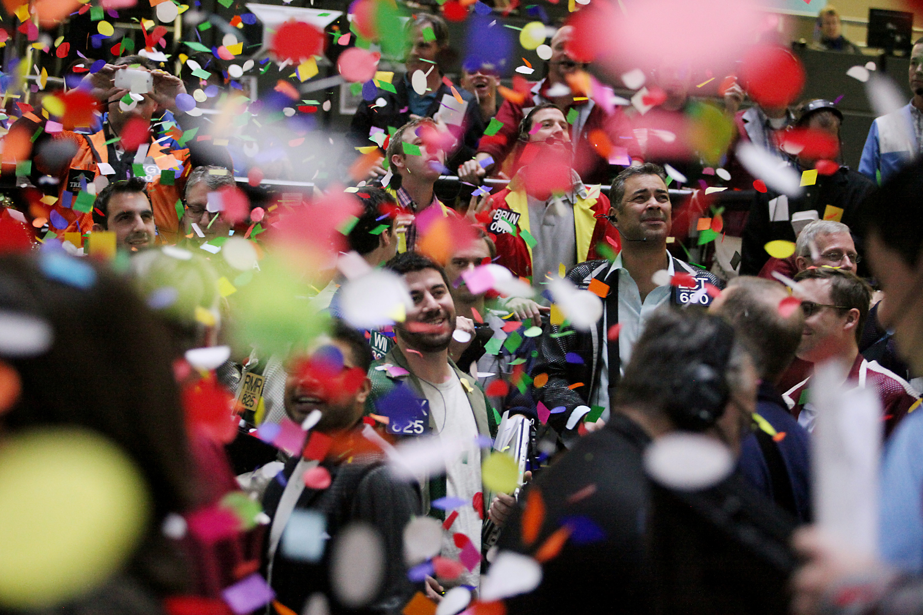 CME Group Ends Year With Trading Floor Confetti Drop
