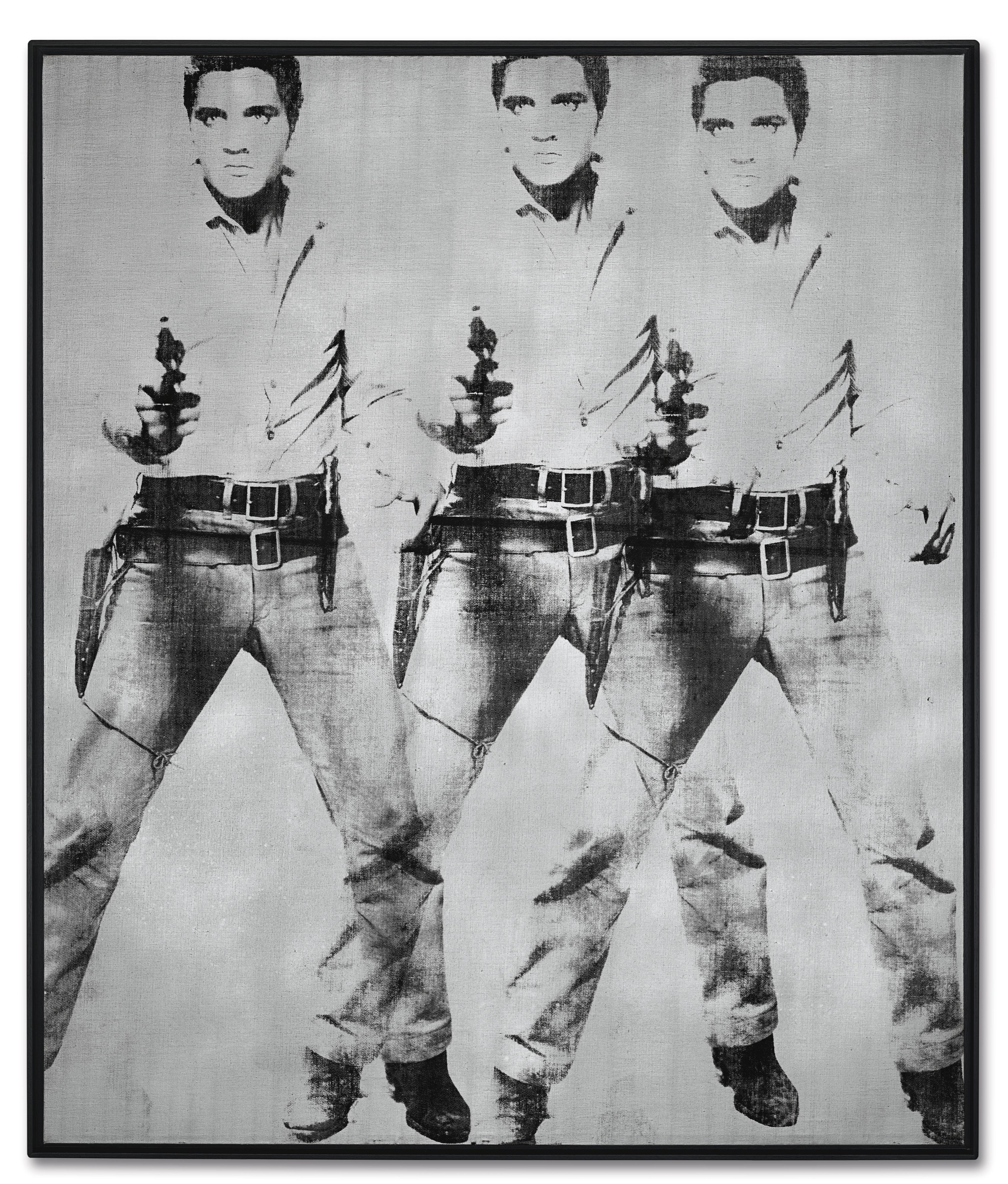 Andy Warhol's 'Triple Elvis.'