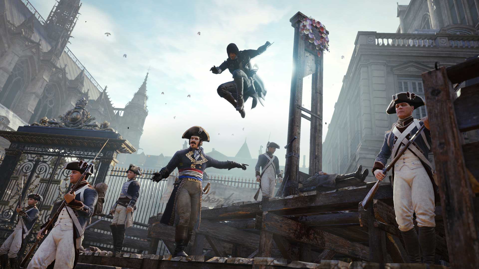 A screenshot from Assassin's Creed Unity, by Ubisoft.