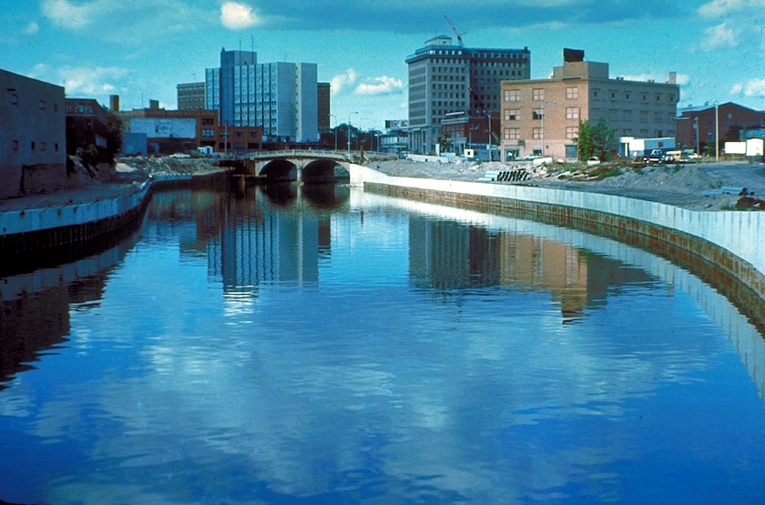 Flint River in Flint, Michigan