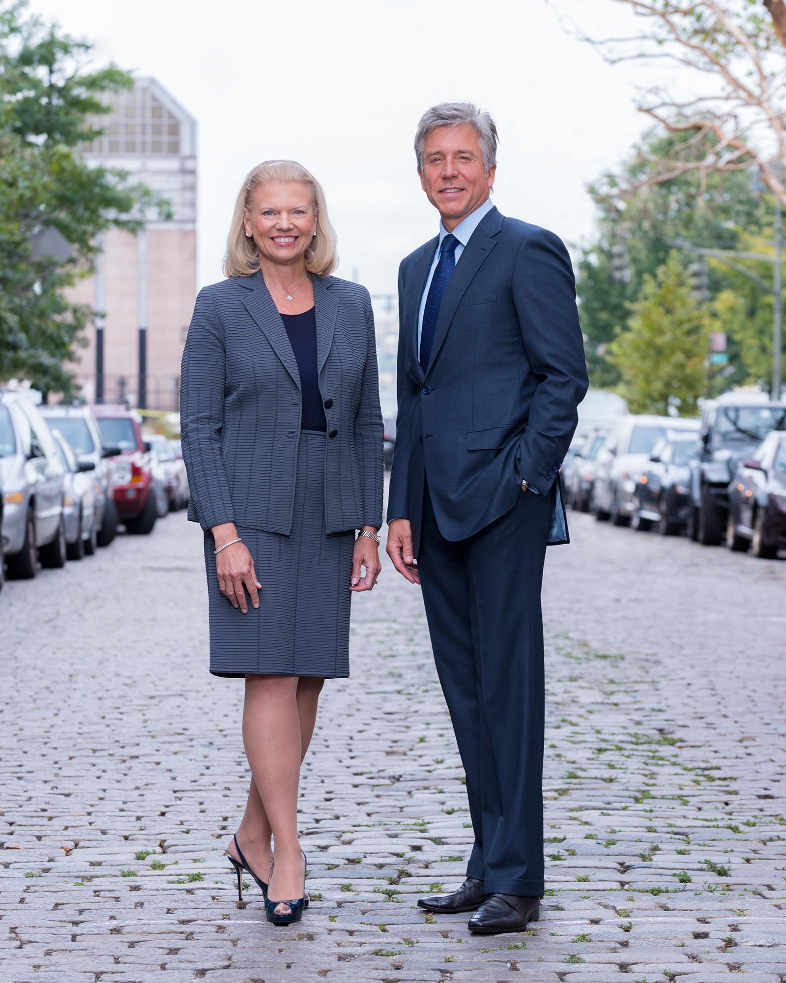 IBM CEO Ginni Rometty and SAP CEO Bill McDermott.