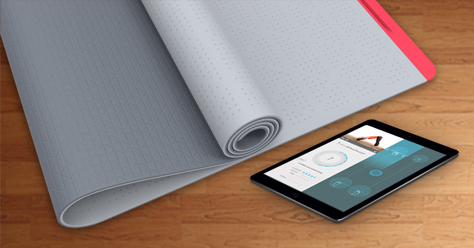 The SmartMat claims to be the first high-tech yoga mat.
