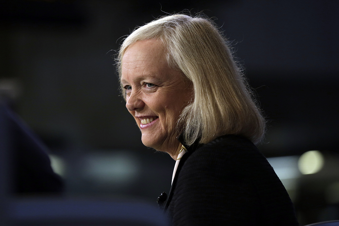 Hewlett Packard Enterprise CEO Meg Whitman.