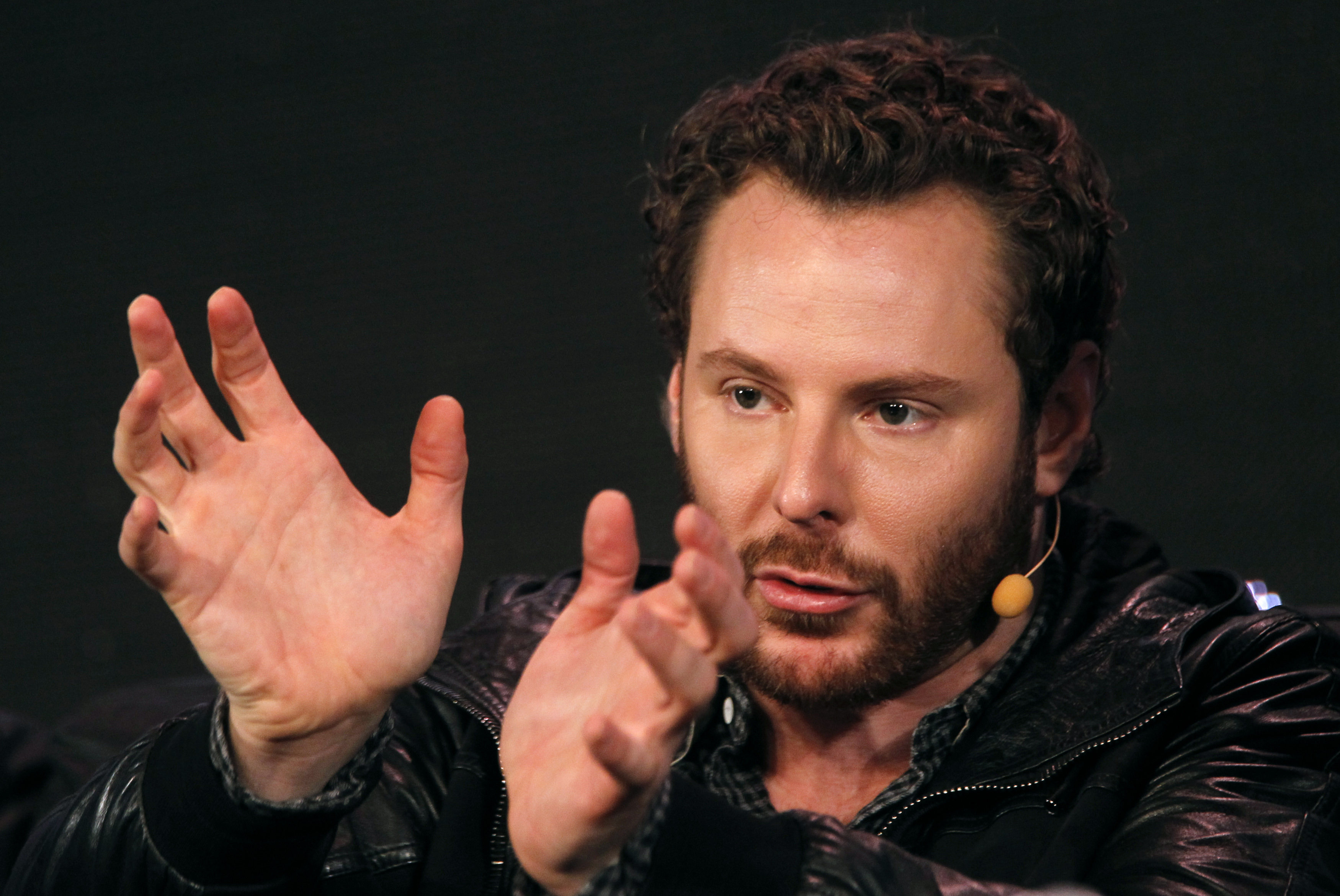 Napster founder and former Facebook president Sean Parker gestures during the Web 2.0 Summit in San Francisco