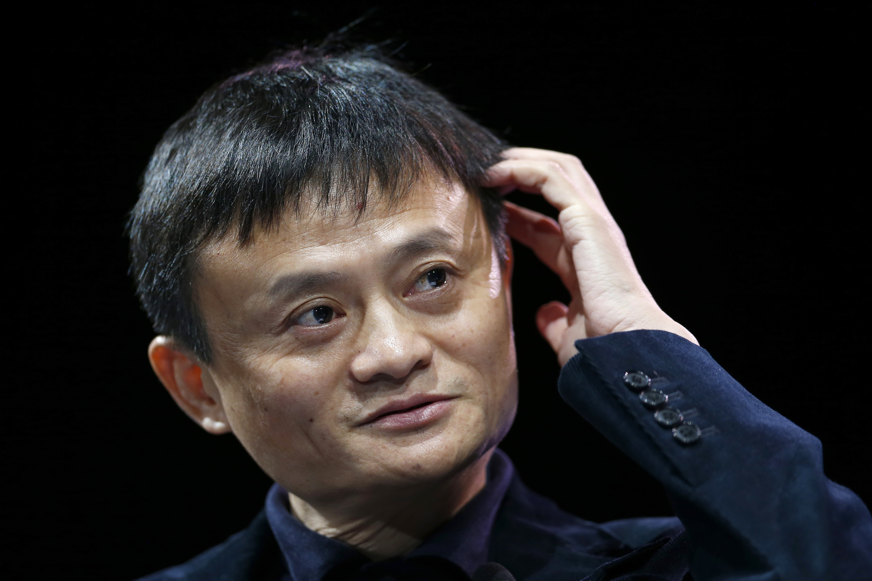 Jack Ma, Executive Chairman of Alibaba Group, speaks at the WSJD Live conference in Laguna Beach
