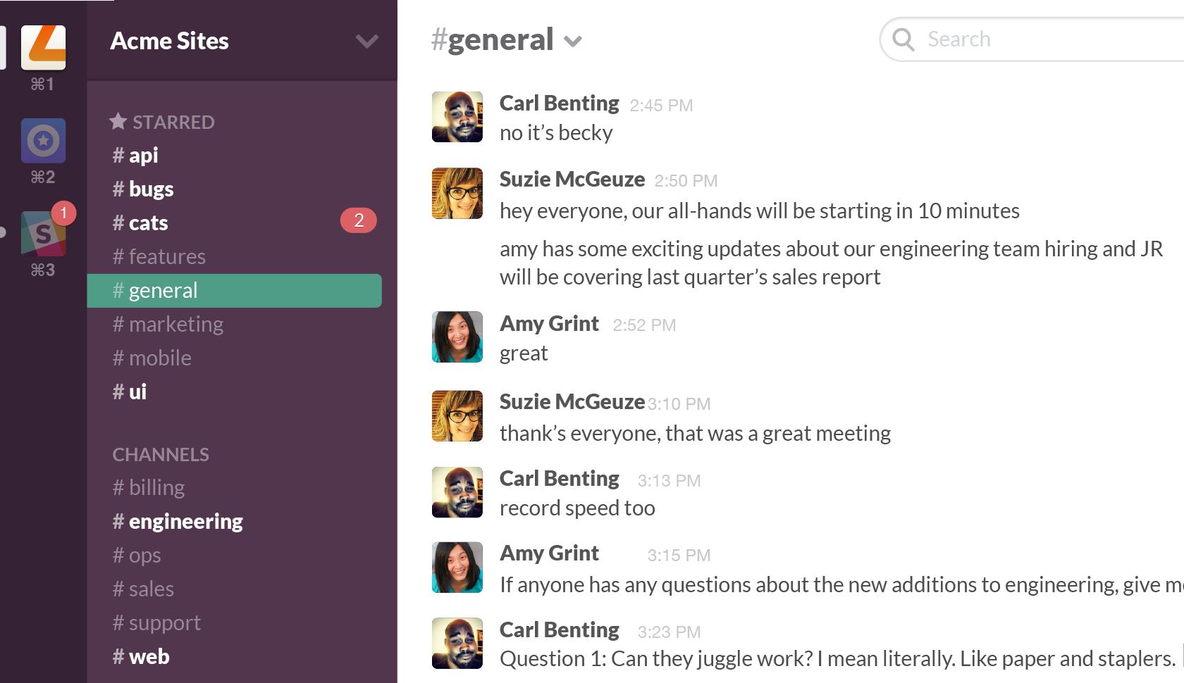 A Slack screenshot.