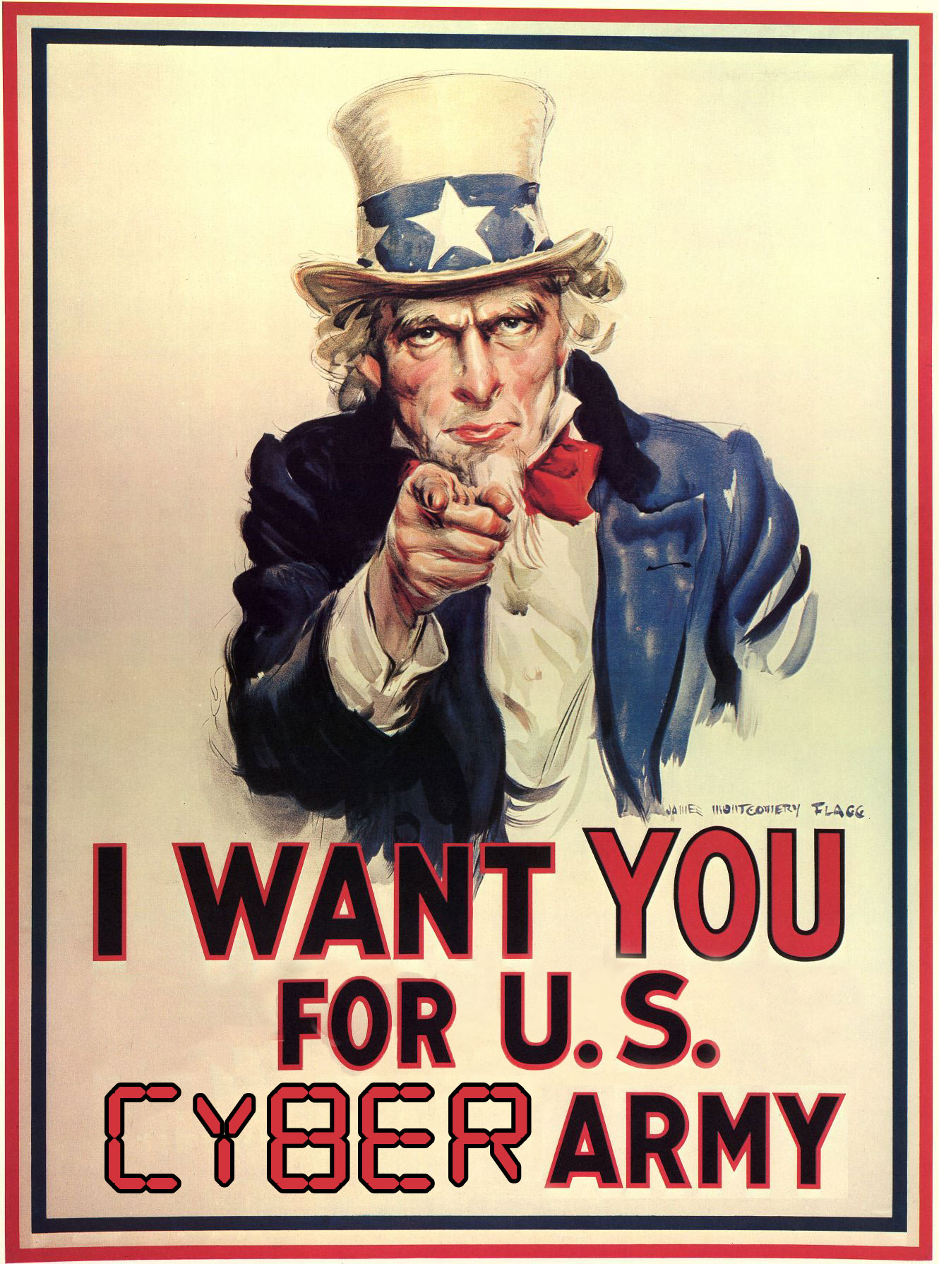 I Want You For U.S. Cyber Army Poster Uncle Sam