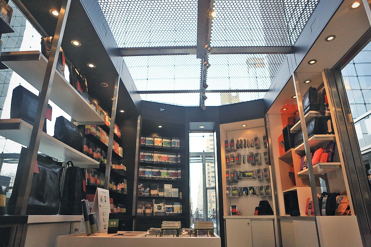 The Moleskine shop in New York's Time Warner Center
