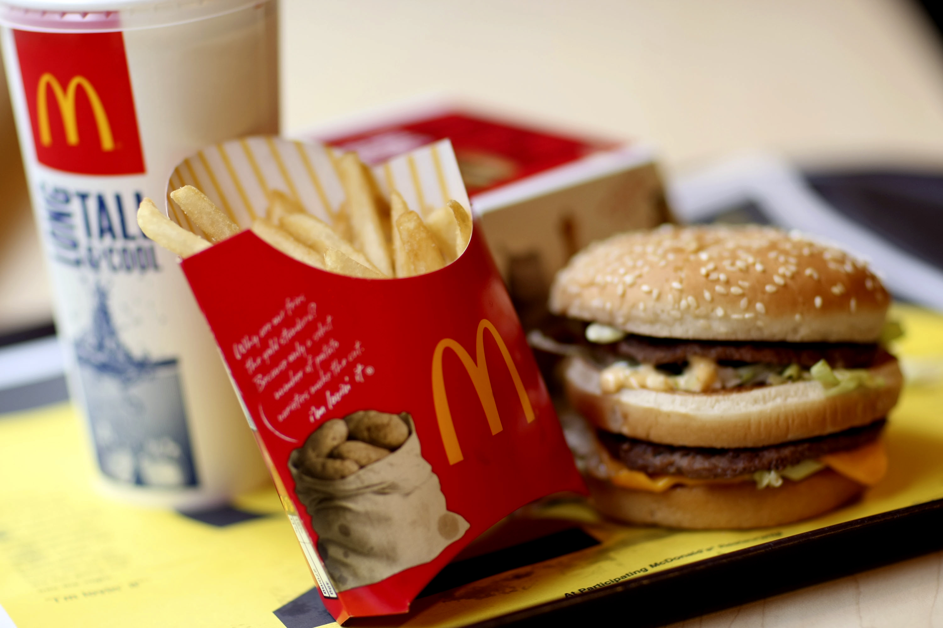 McDonald's Profit Rises 12%, Spurred by Sales Of Frozen Drinks