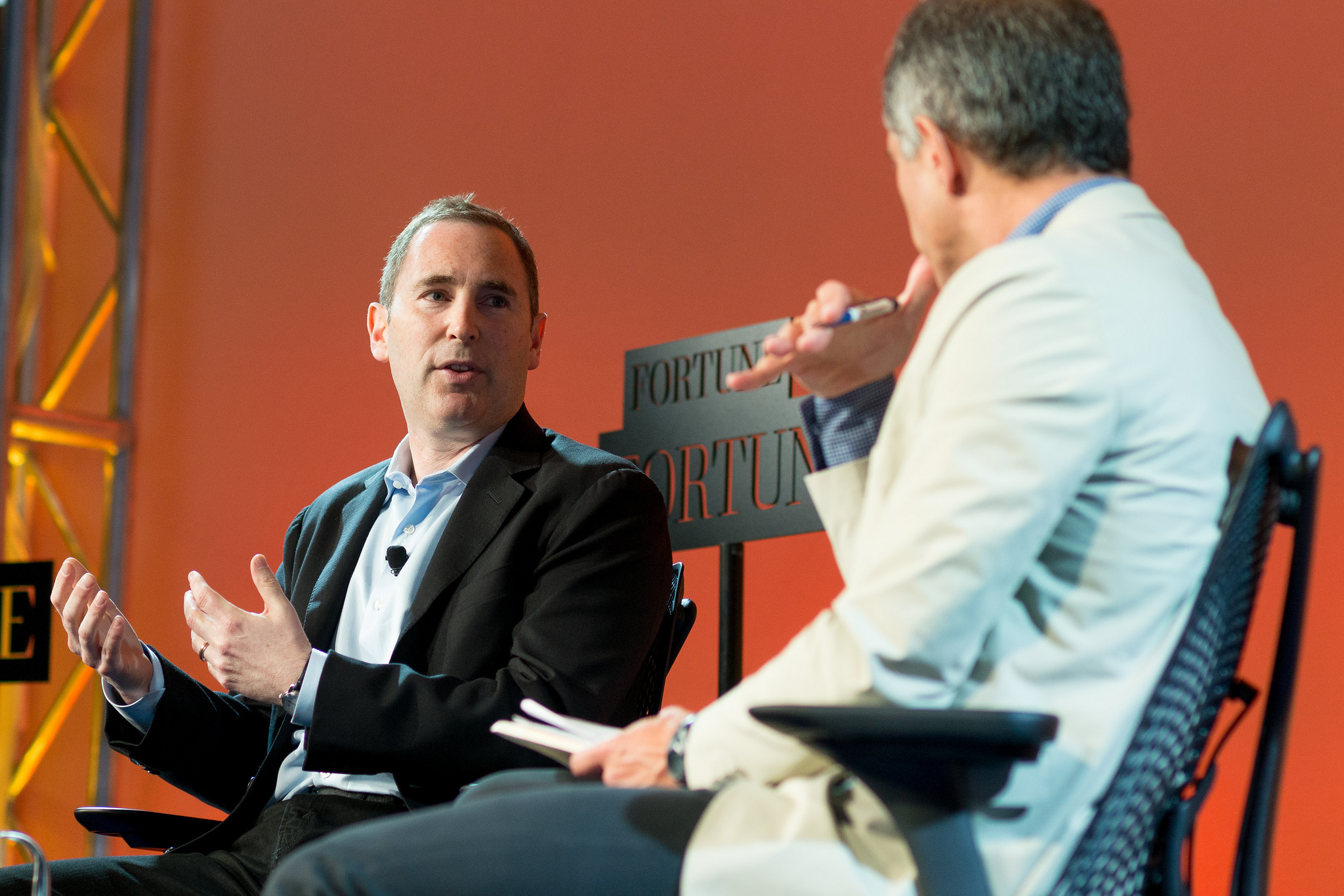 Amazon's Andy Jassy and Fortune's Adam Lashinsky at Brainstorm Tech 2014