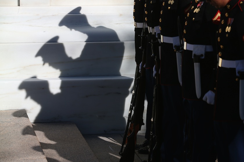 Obama Participates In Observance Of Veterans Day At Arlington Nat'l Cemetery