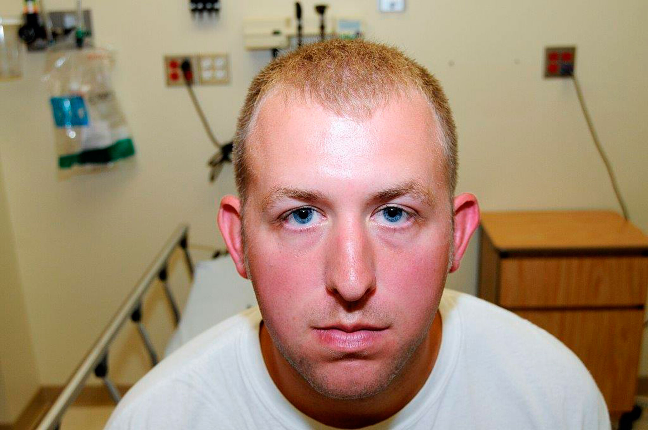 Photo of Officer Darren Wilson as released by the prosecutor's office on the day of the altercation with Michael Brown on August 9, 2014 .