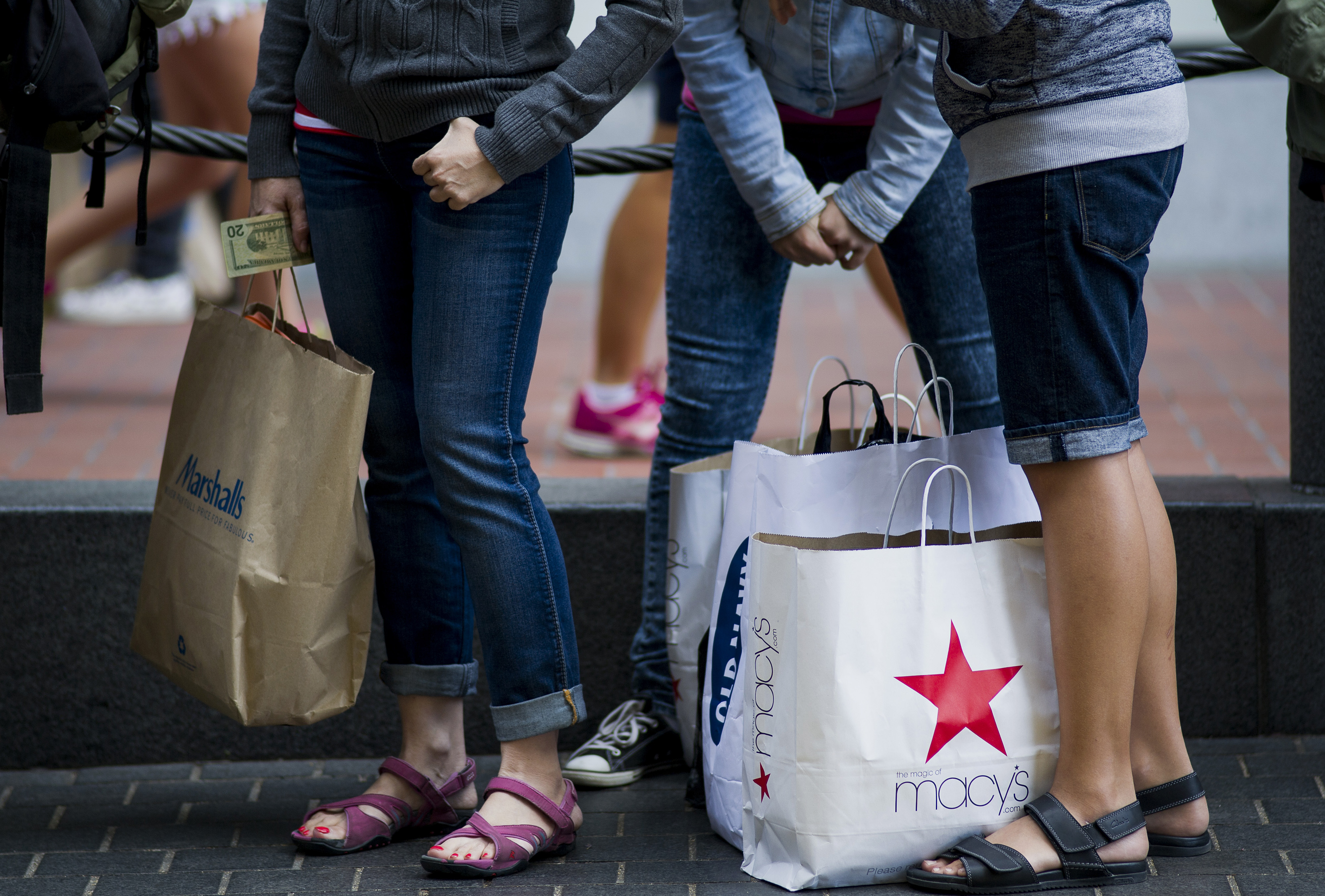 Shoppers In The Union Square Area As Retail Sales Figures Are Released
