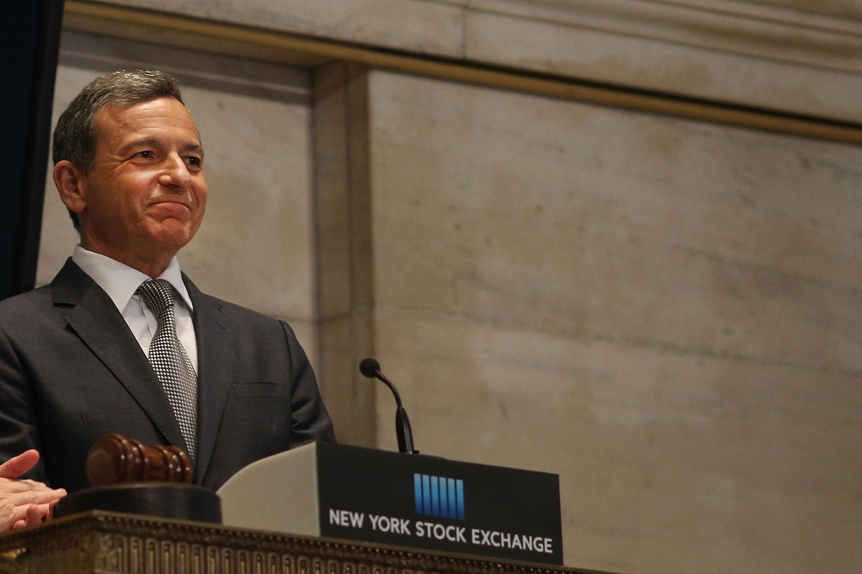 Disney CEO Bob Iger Rings Closing Bell At New York Stock Exchange