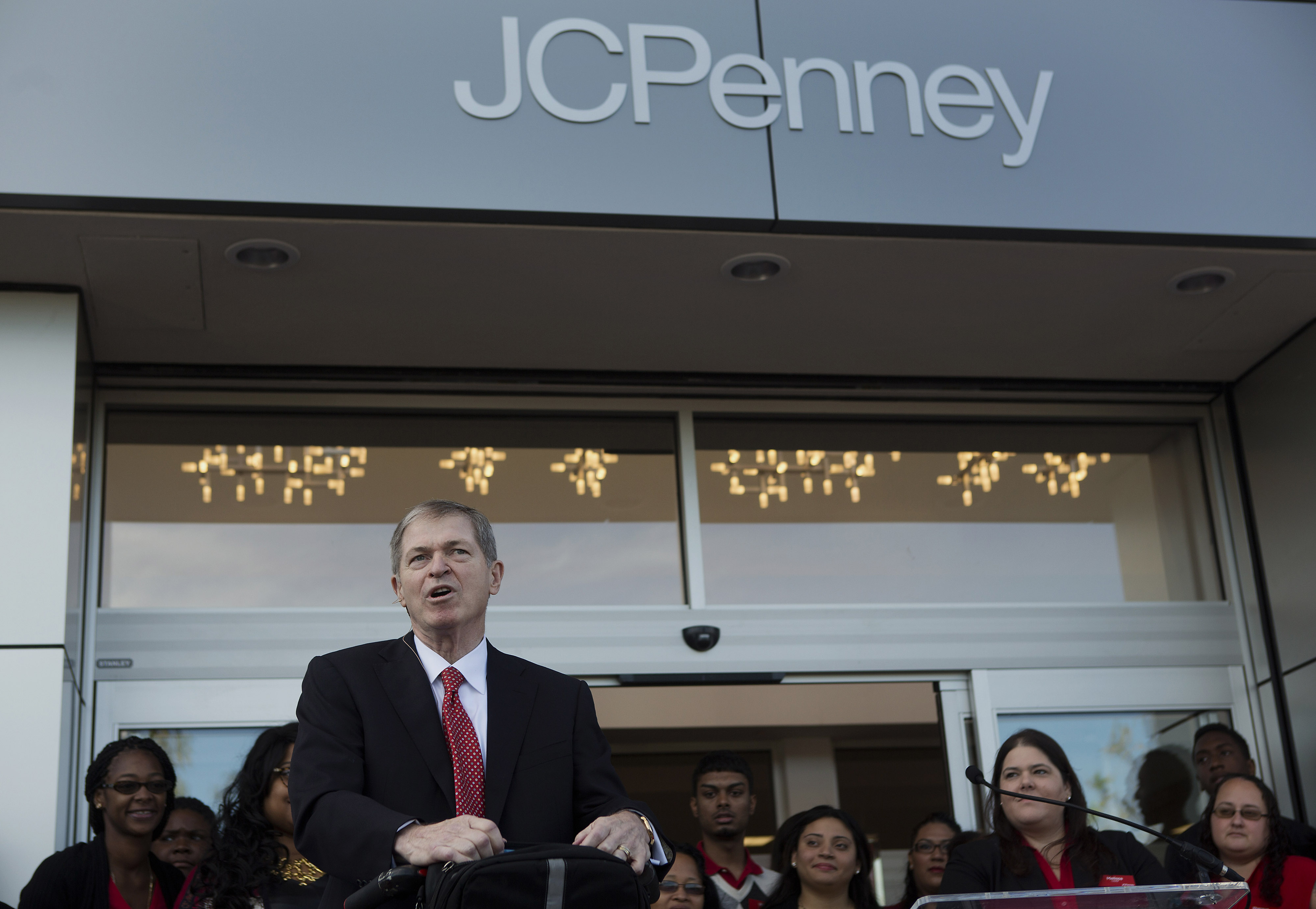 Shoppers During The Grand Opening Of A J.C. Penney Co. Store In Brooklyn