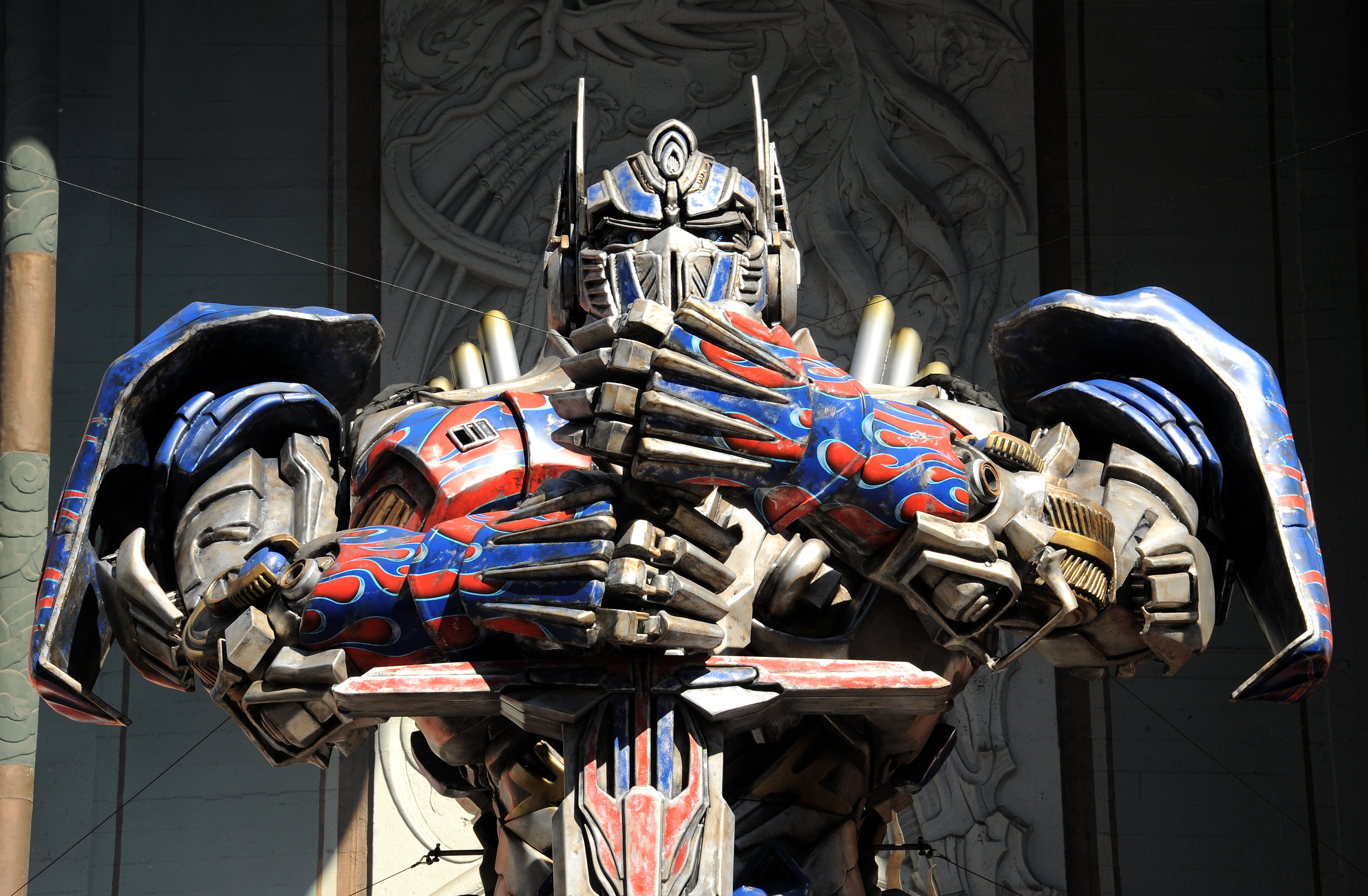 Optimus Prime Immortalized With Hand And Footprint Ceremony