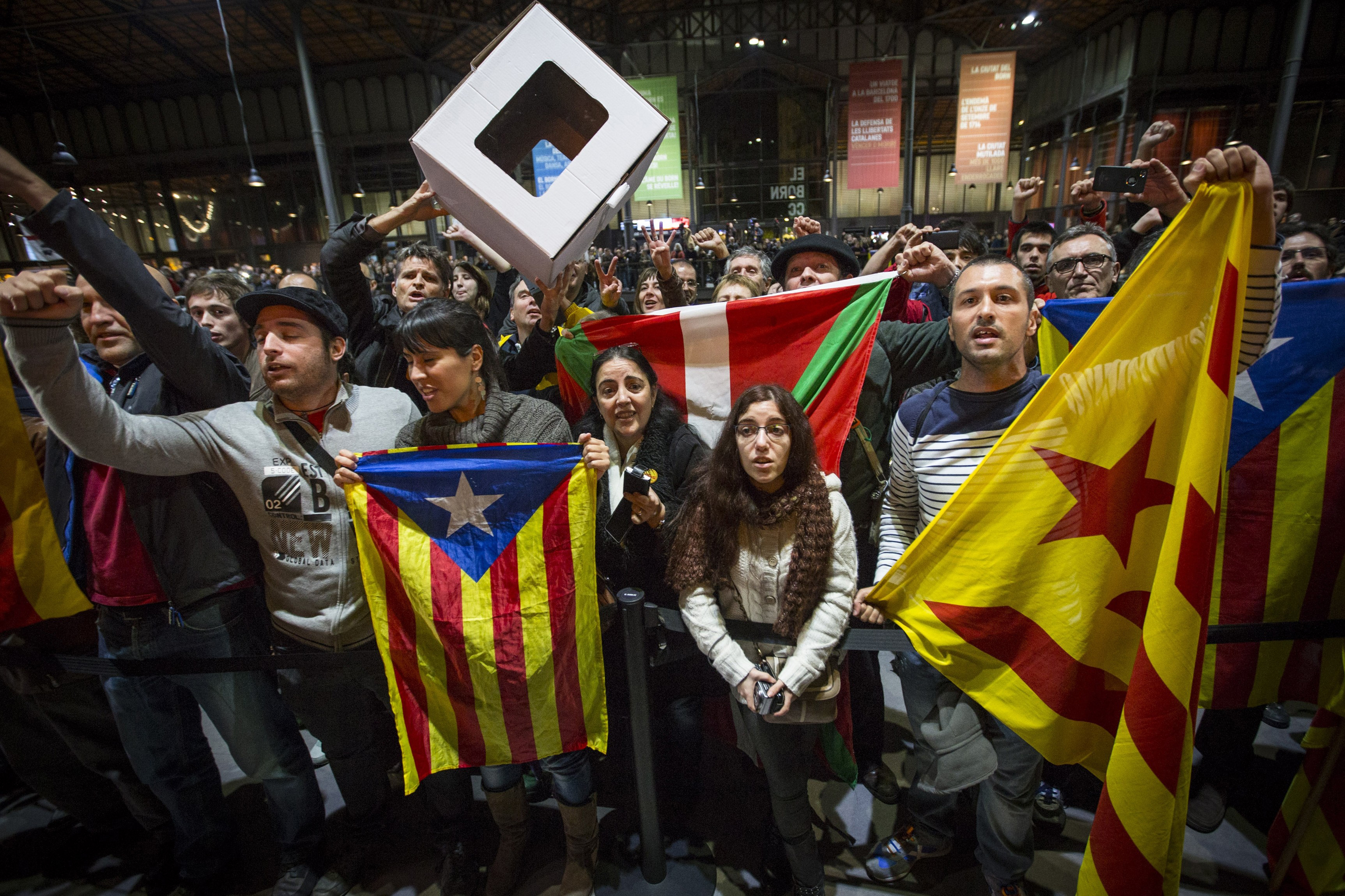 Catalonia National Assembly (ANC) celebrates the unofficial referendum