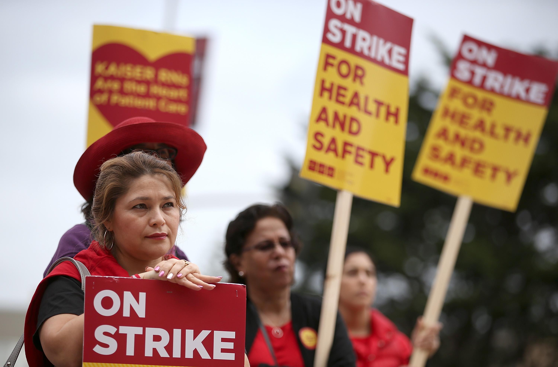 California Nurses Strike To Protest Patient Care Conditions, Ebola Preparation